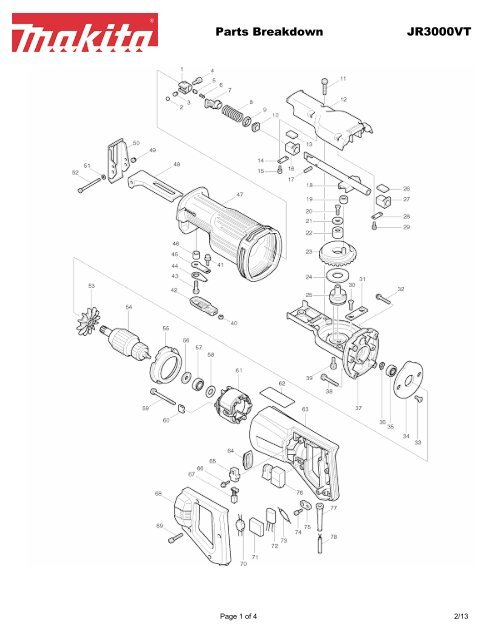 Parts Breakdown JR3000VT - Makita on john deere diagrams, honeywell diagrams, ge diagrams, arrow diagrams, mtd diagrams, husqvarna diagrams, kohler diagrams, apple diagrams, evolution diagrams, hyundai diagrams, toyota diagrams, cub cadet diagrams, kubota diagrams, toro diagrams,