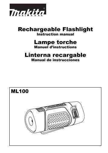 Rechargeable Flashlight Lampe torche Linterna recargable - Makita