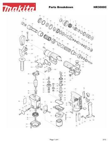 Parts Breakdown Jr3000vt Makita