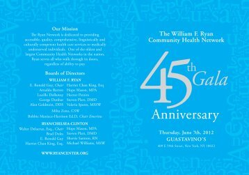 Anniversary - The William F. Ryan Community Health Network