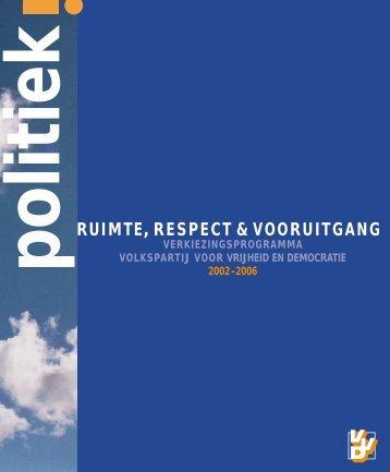 VVD-verkiezingsprogramma 2002 - Parlement & Politiek