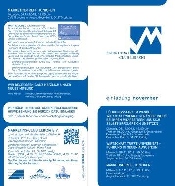 Programmheft - Marketing Club Leipzig