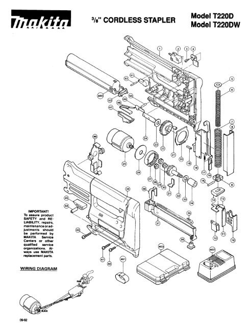 Makita Wiring Diagram
