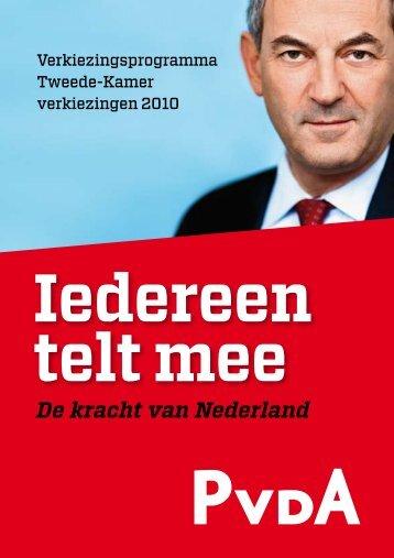 Verkiezingsprogramma - PvdA