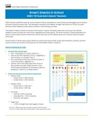 Foods Served in School Flyer - WI Child Nutrition Programs (FNS)