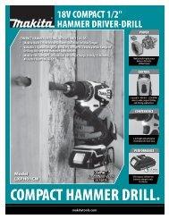 COMPACT HAMMER DRILL. - Makita