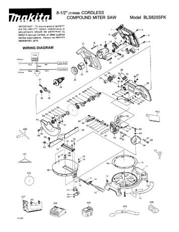 Circuit diagram 1 8 12 216mm cordless compound miter saw keyboard keysfo Images