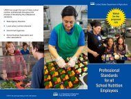 Professional Standards for all School Nutrition Employees
