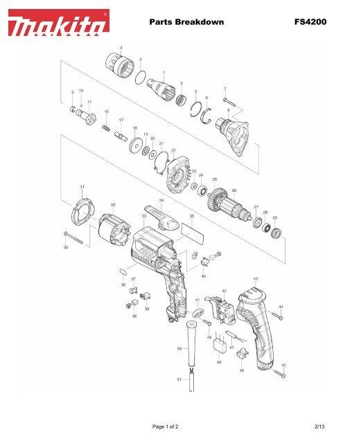 Parts Breakdown FS4200 - Makita on