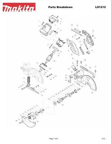 Parts Breakdown 6830 Makita