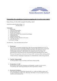 Protokoll der 86. ordentlichen Generalversammlung des ...