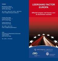 LEERGANG FACTOR EUROPA