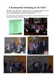 8. Bundesweiter Vorlesetag am 18.11.2011 - Ruth-Schaumann-Schule