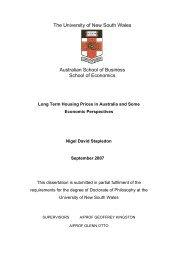 Long Term Housing Prices in Australia - Stapleton UNSW