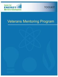 Veterans Mentoring Program Toolkit - CEWD