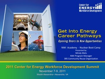 Nuclear Boot Camp - Center for Energy Workforce Development