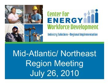 State of the Region - Center for Energy Workforce Development