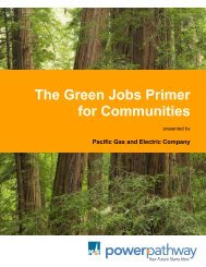 The Green Jobs Primer for Communities - Pacific Gas and Electric ...