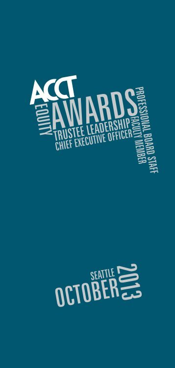 2013 ACCT Awards program