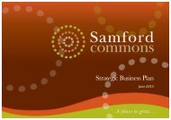 Samford Commons Strategic Business Plan