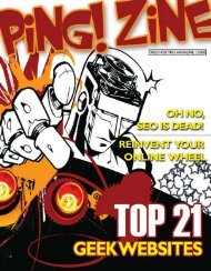 Zine (.pdf) - Ping! Zine Web Tech Magazine