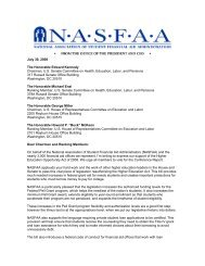 NASFAA - Democrats -Committee on Education and the Workforce ...