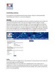 Korte handleiding webshop - Eszet