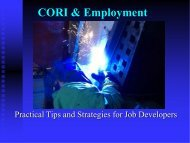 CORI & Employment - CWC