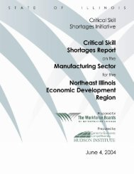 Critical Skill Shortages Report on Manufacturing Sector Addenda to ...