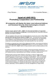 Israel at LAAD 2013: Promoting Cooperation and Partnership - Sibat