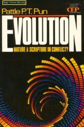 evolution nature and scripture in conflict? - Interdisciplinary Biblical ...