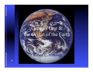 Genesis One & the Origin of the Earth - Newmanlib.ibri.org
