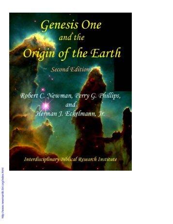 Genesis One and the Origin of the Earth - Newmanlib.ibri.org