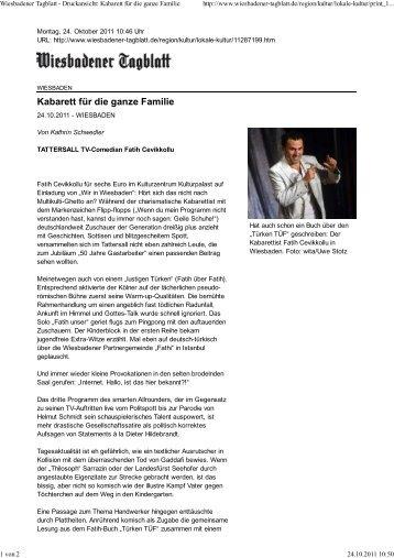 Kabarett für die ganze Familie - WIR in Wiesbaden