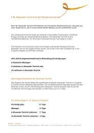Vergleichsstudie - Praxis F.M. Alexander-Technik