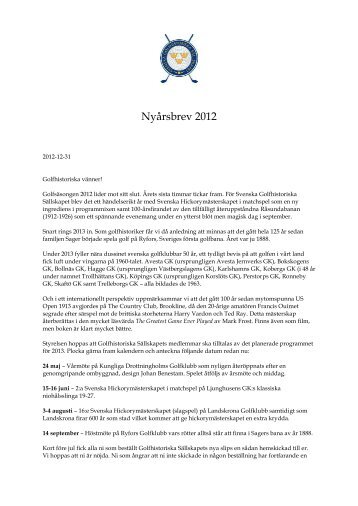 Nyårshälsning 2012 (1).pdf - Golfhistoriska Sällskapet