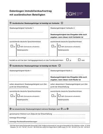 Datenbogen Für Immobilienkaufvertrag Eifert Geertsde