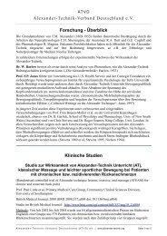 Forschung - Alexander-Technik-Verband Deutschland