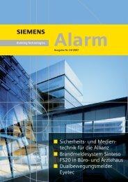 Sicherheits- und Medien- technik für die Allianz ... - Siemens