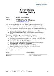 Zielvereinbarung Schuljahr 2009/10 - Hochwald-Gymnasium