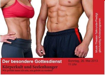 Der besondere Gottesdienst Körperkult und ... - FeG Wiesbaden
