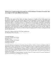 Market access, organic farming and productivity: the ... - ecineq