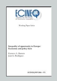 Inequality of opportunity in Europe: Economic and policy facts - ecineq