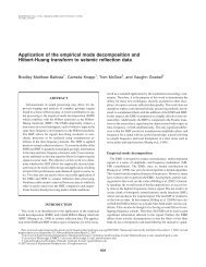Application of the empirical mode decomposition and Hilbert-Huang ...