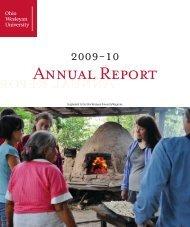 Annual Report Annual Report - Ohio Wesleyan Magazine - Ohio ...