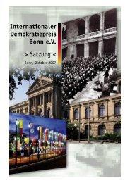 Die Satzung als PDF - Internationaler Demokratiepreis Bonn