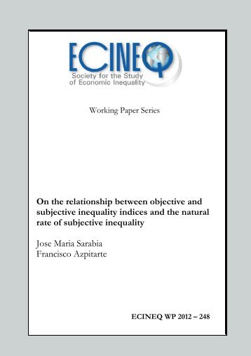 On the relationship between objective and subjective ... - ecineq