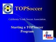 Starting a TOPSoccer Program - CYSA District 8