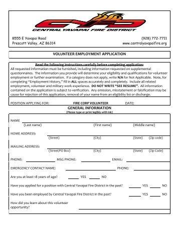 fire-corps-volunteer-application-central-yavapai-fire-district Volunteer Fire Department Application Forms on volunteer library application, volunteer fire company, fire department job application, volunteer fire recruit,
