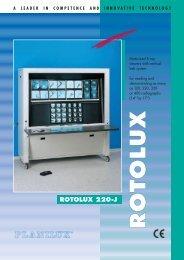 Brochure about ROTOLUX - Planilux